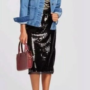 Who What Wear Pullon Sequined Skirt - Size XXL